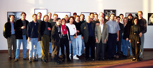 Members of the Director's Edition production team (and friends) with Robert Wise in 1999.