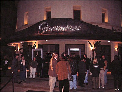 Guests gathering at the Paramount Theater