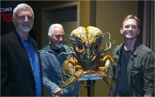 L to R: Ken Ralston, Rick Baker and Spencer Cook
