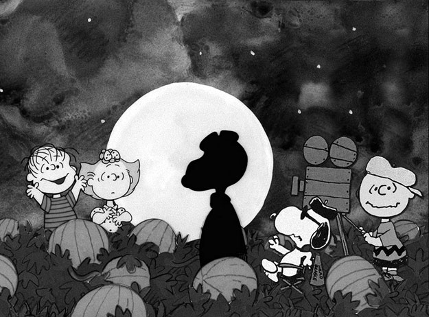 "On the set of ""It's the Great Pumpkin, Charlie Brown!"" in 1966"