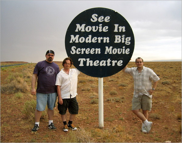 Todd, Adam, and Bill at Meteor Crater in 2007