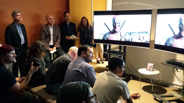 The Deadpool 4K demo at the Fox Innovation Lab