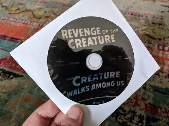 Revenge of the Creature Blu-ray 3D replacement disc