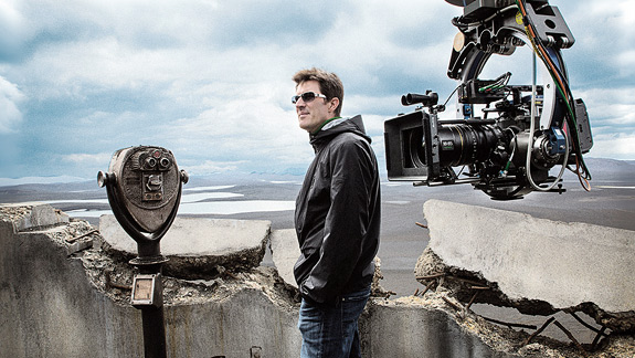 Kosinski on the set of Oblivion