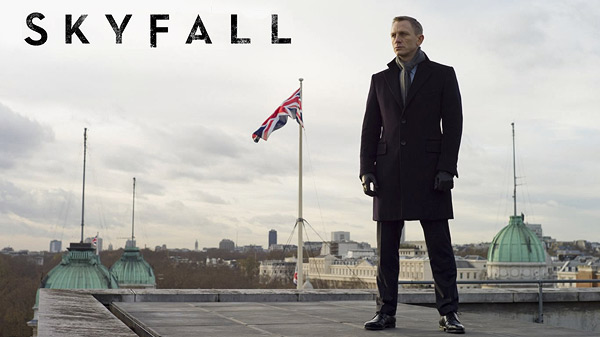 The latest installment in the Bond franchise: Skyfall
