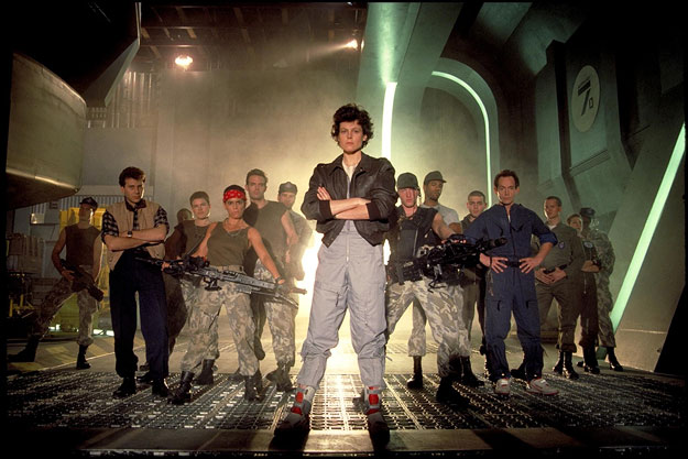 The cast of Aliens