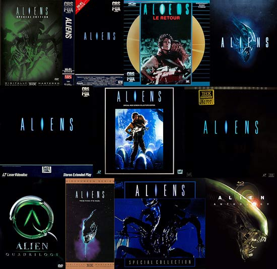 Aliens on home video