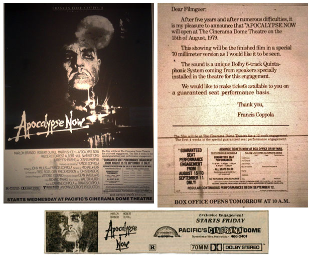Apocalypse Now at the Cinerama Dome - Newspaper ad