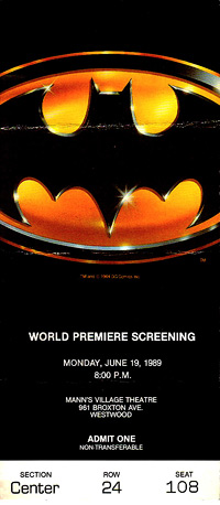Batman Westwood Village ticket (Bill Gabel)