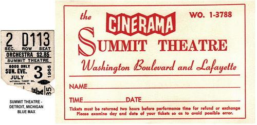 The Blue Max - Cinerama ticket