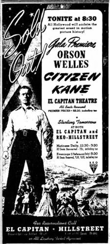 Newspaper ad for the film