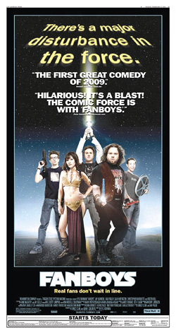 Fanboys newspaper ad