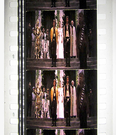 Film frame from Star Wars