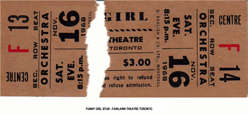 Funny Girl ticket