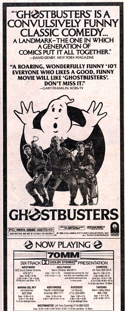 Ghostbusters L.A. Times ad