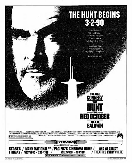 The Hunt for Red October newspaper ad