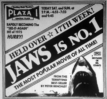 Jaws newspaper ad