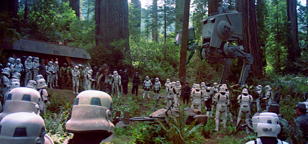 A scene from Return of the Jedi