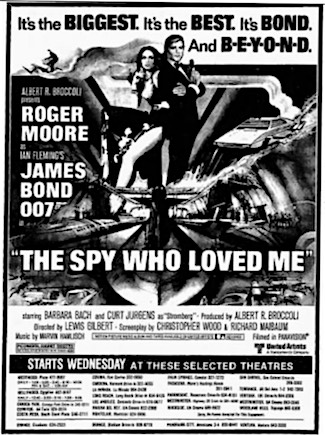 The Spy Who Loved Me newspaper ad