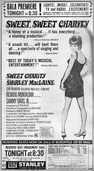 Sweet Charity Premiere Philly Ad