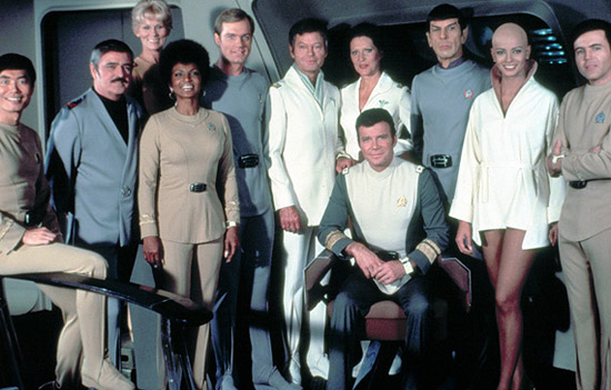 The cast of Star Trek