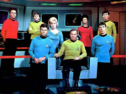 The cast of Star Trek.