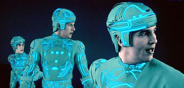 A scene from Tron