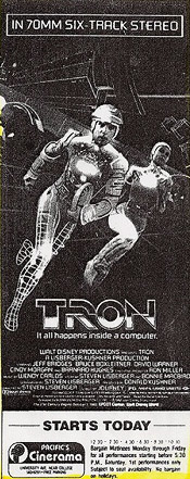 Tron newspaper ad re-release