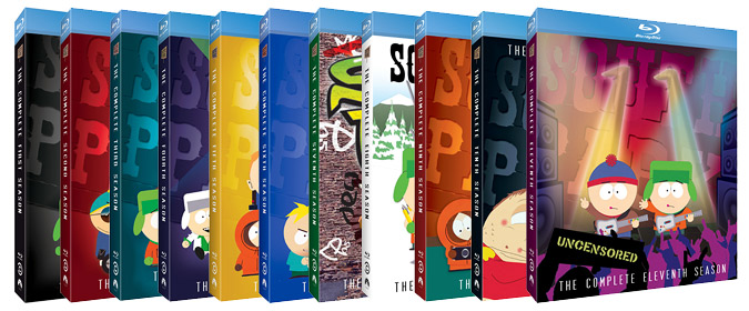 Paramount & Comedy Central set South Park: Seasons 1-11 for release on Blu-ray for the first time!