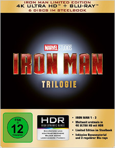 Iron Man Trilogy (GERMAN - 4K Ultra HD Blu-ray)