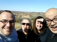 Here we are in the Badlands - best vacation ever!