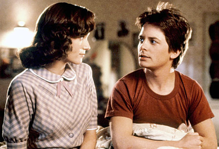 Lea Thompson and Michael J. Fox