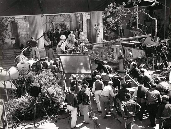 Filming Gone with the Wind