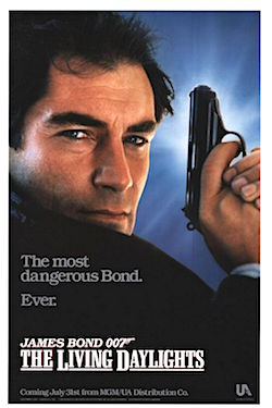 The Living Daylights teaser onesheet