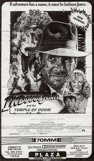 Temple of Doom newspaper ad
