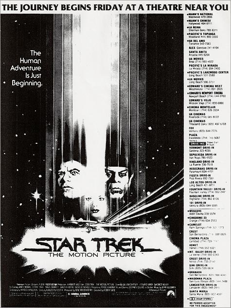 An L.A Times newspaper ad for the film from 12/2/1979
