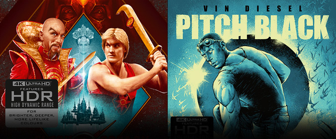 Arrow Video reveals FLASH GORDON 4K for North American release, plus PITCH BLACK in 4K too & more!
