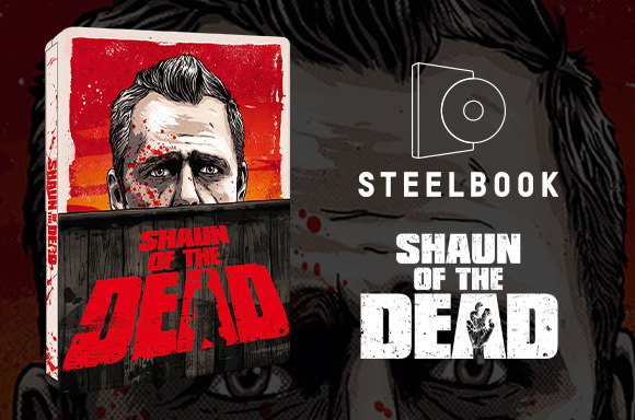 Shaun of the Dead Zavvi Steelbook (4K Ultra HD)